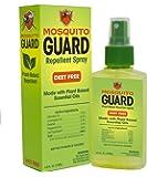 Mosquito Guard Natural Repellent Spray – Made with Plant Based Essential Oils: Citronella, Geraniol, Lemongrass - 4oz…