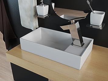 Design Mineralguss Waschbecken Waschtisch Aufsatzwaschbecken Gaste