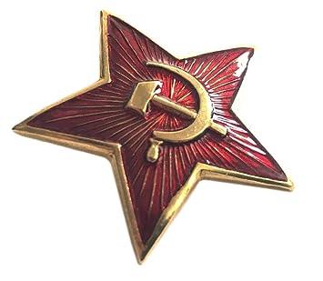 d62c4d295bd Ganwear® Soviet USSR Russian Army Military Large RED Star Ushanka Hat Cap  Beret Pin Badge