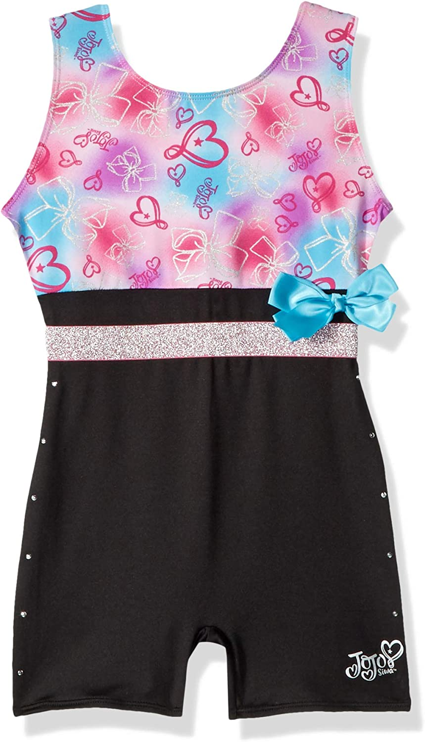Jojo Siwa By Danskin Girls Big Rainbow Bows Biketard