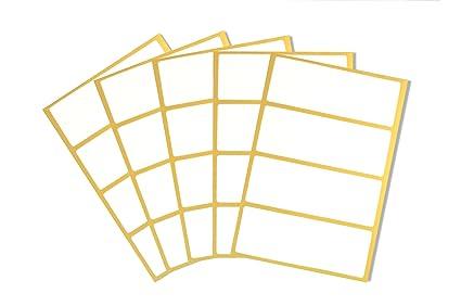 20 Selbstklebende Weiße Etiketten Für Haushalt Und Büro Zum Beschriften Von Heften Einmachgläsern Flaschen Kartons Aufkleber Sticker 10 X