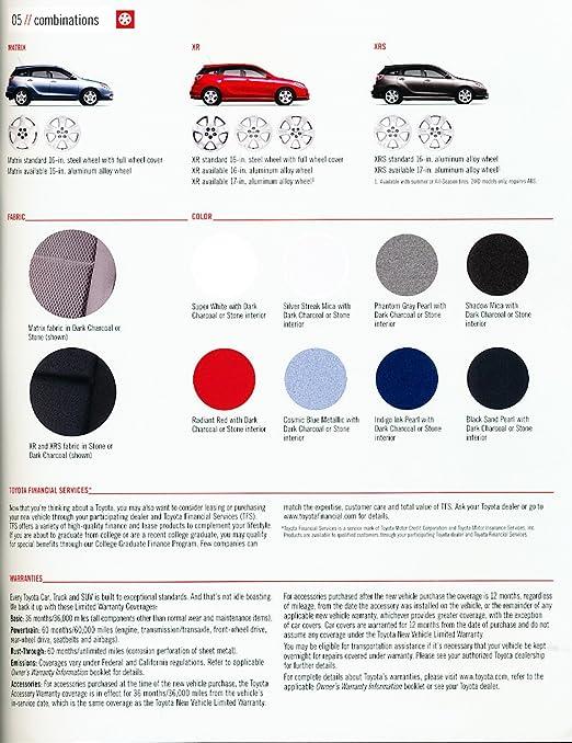 Amazon.com: 2005 Toyota Matrix 12-page Original Sales Brochure Catalog - Corolla: Posters & Prints