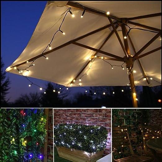 ledmomo Solar String luces, exterior solar luz cadena 500LED Agua Densidad Tiras luces con panel solar para jardín boda Patio Valla Árboles de Navidad decoración (Blanco Cálido): Amazon.es: Iluminación