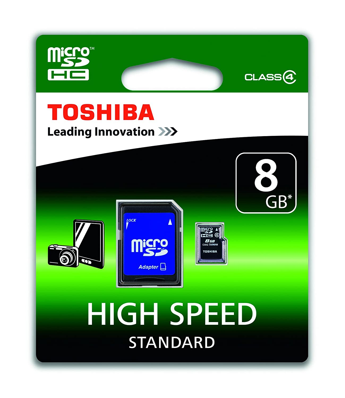 Toshiba SD-C08GJ(6A - Tarjeta Micro SD de 8 GB (Clase 4, con ...