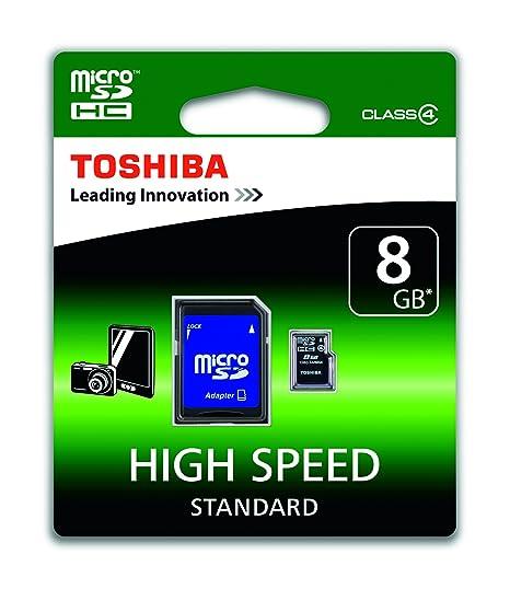 Toshiba SD-C08GJ(6A - Tarjeta Micro SD de 8 GB (Clase 4, con Adaptador)