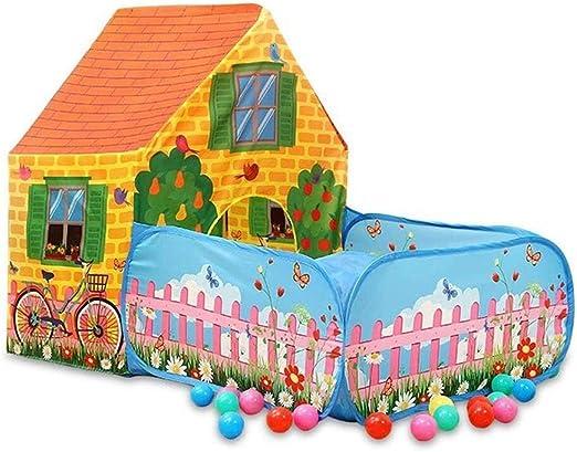YWAWJ Juego Casa, Tienda de campaña Niño interior y al exterior con jardín Casa hogar de