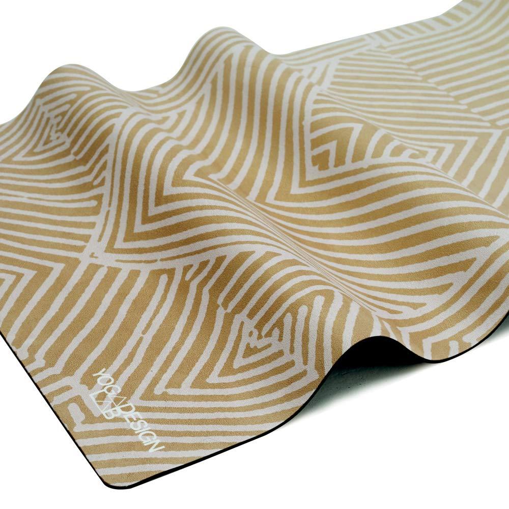 Waschmaschinenfest Matte//Handtuch faltbar Guter Halt bei schwei/ßtreibendem Sport Yoga Design Lab Pendler Matte 1,5mm Rutschfest Ideal f/ür Hot Yoga leicht Bikram
