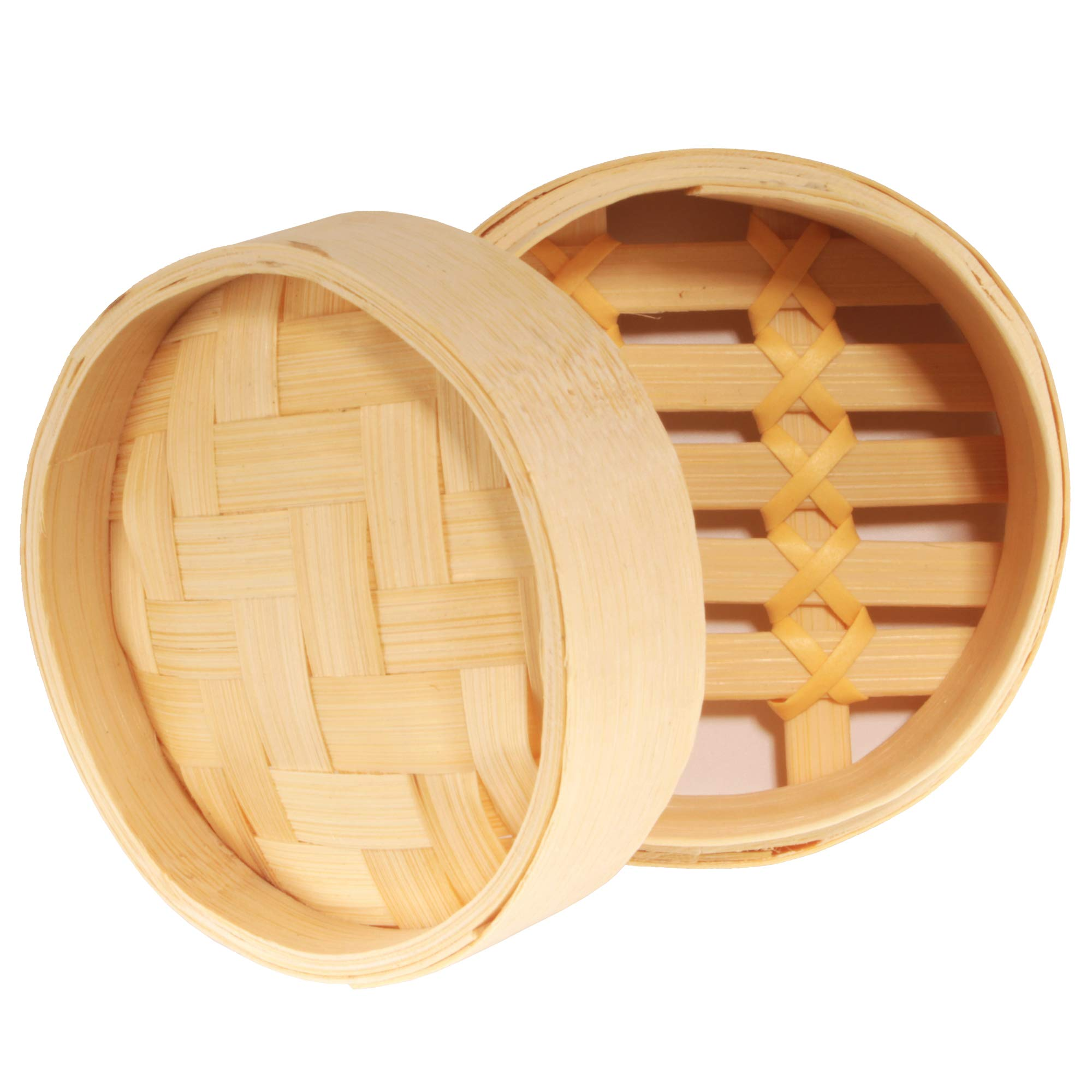 BambooMN 3 Inch Mini Bamboo Dim Sum Dumpling Steamer Basket for Dessert Party Favors Wedding Birthday Home Decorations Supplies, 100 Pieces by BambooMN (Image #2)