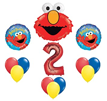 Elmo Sesame Street 2 2nd Second Birthday Party Supply Balloon Mylar Latex Set Decorations