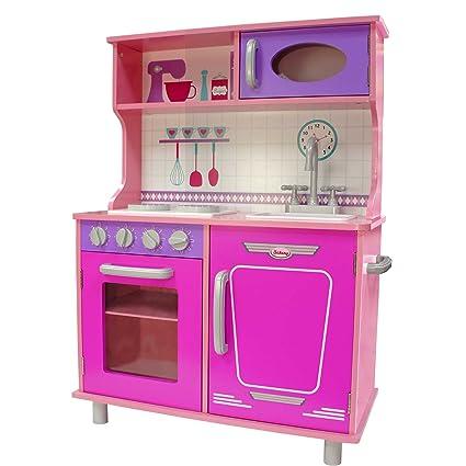 Cocina de Madera Vintage Rosa -Kids House-: Amazon.com.mx: Juegos y ...