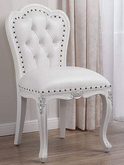 Simone Guarracino Poltrona sedia bianco laccato particolari foglia ...