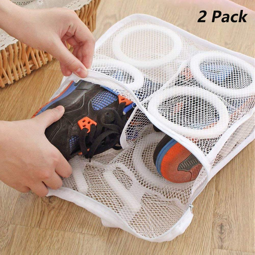f6392a706221c Kalolary Laundry Wash Shoe Bags for Travel 2-Pack Durable Small Mesh Wash  Laundry Shoes,Blouse, Hosiery, Stocking, Underwear, Bra and Lingerie Travel  ...
