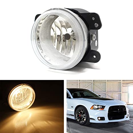 Ijdmtoy One Piece 1 Replacement Fog Light Lamp W H10 9145 Halogen Bulb For Jeep Wrangler Grand Cherokee Dodge Charger Journey Magnum Chrysler