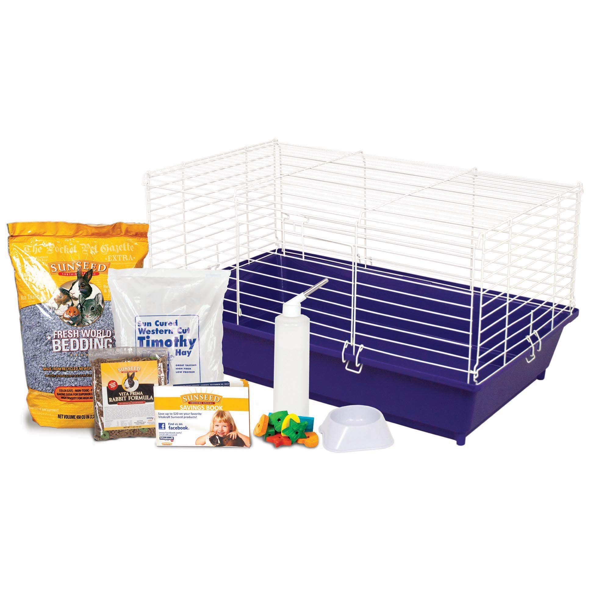 Ware Manufacturing Home Sweet Home Sunseed Rabbit Cage Starter Kit by Ware Manufacturing