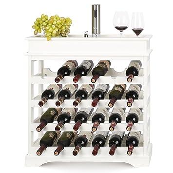 Homfa Casier à Vin étagère De 24 Bouteilles étagère à Vin En Bois