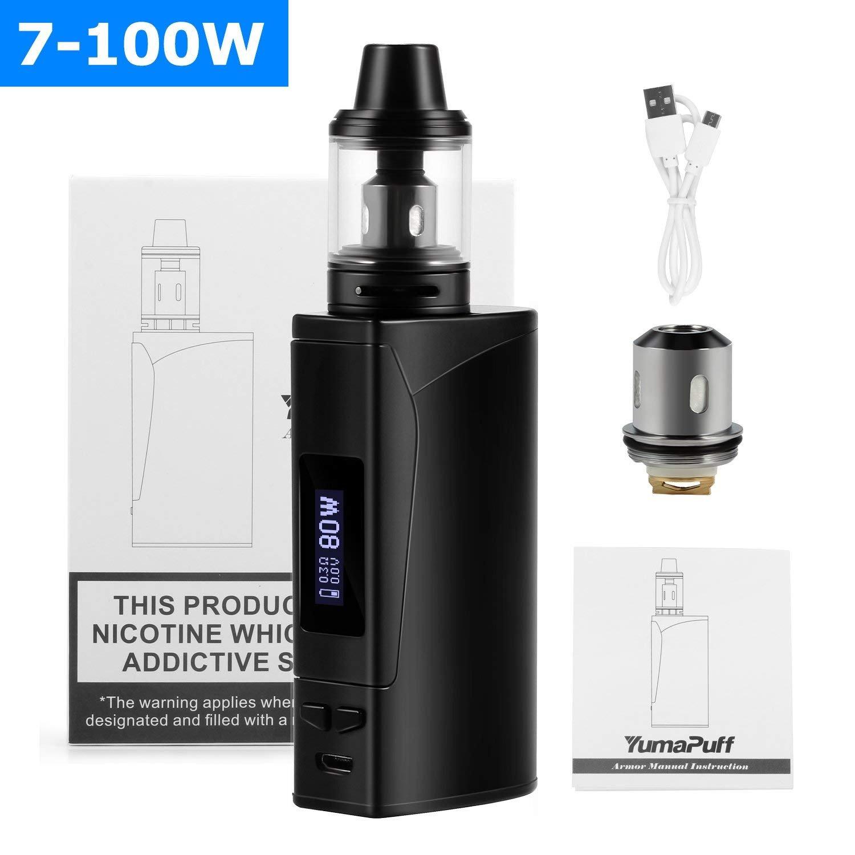 Cigarrillo Electrónico YumaPuff Armor 100w, E Cigarette Starter Kit, Batería recargable de 2000 mah, Enorme Kit de Vape con pantalla,Sin Nicotina y Sin ...
