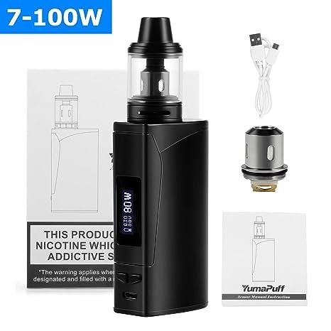 Cigarrillo Electrónico YumaPuff Armor 100w, E Cigarette Starter Kit, Batería recargable de 2000 mah