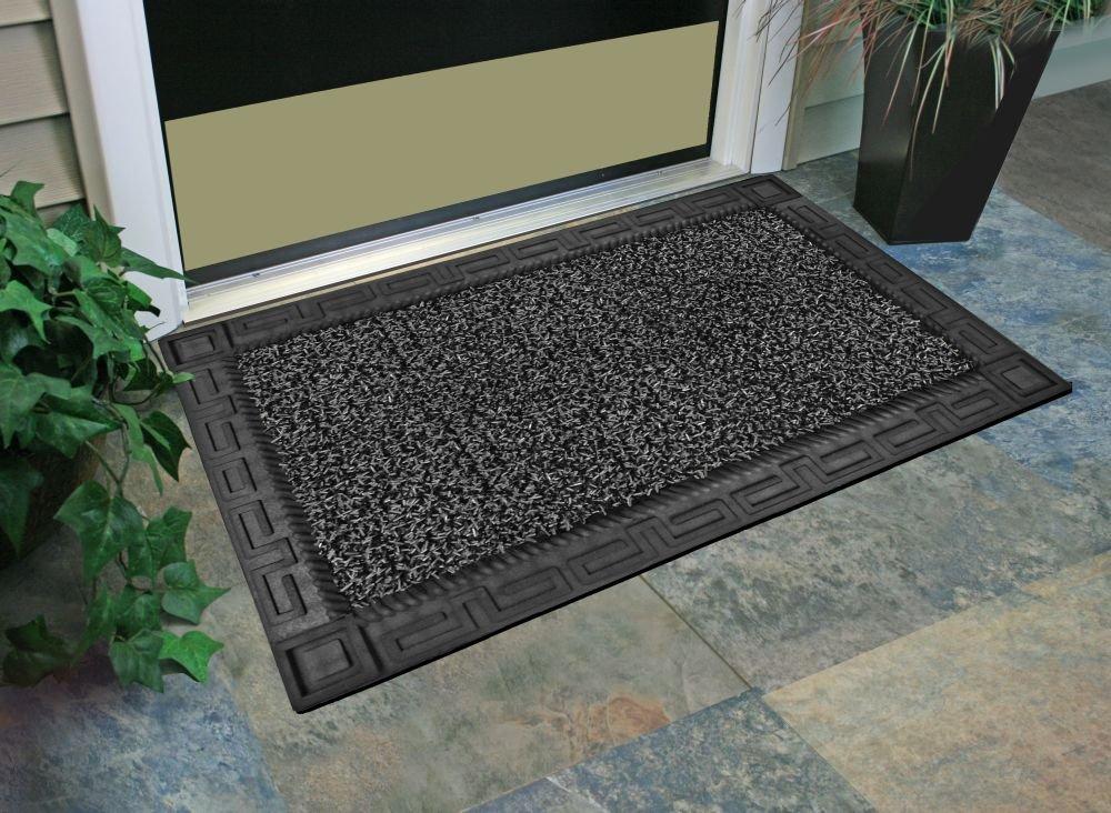 large front door matsAmazoncom  GrassWorx Omega Doormat 24 by 36 Earth Taupe