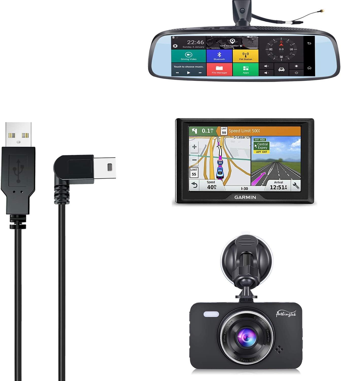 Charging Cable for Dash Cam,6.5 Ft Mini USB Dash Camera Mirror Dash Cam Garmin GPS Power Cord,Fit APEMAN,CHORTAU,TOGUARD,Crosstour,Rexing V1//V1P,Vantrue N1//N2 Pro,GOODTS,AUKEY,Pruveeo,VanTop H610,etc
