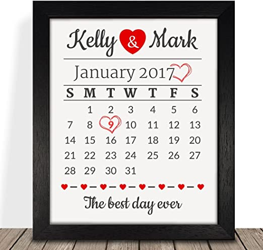 """Personalised 2 Silver Love Hearts Wedding Anniversary 6/"""" Card 25th Any Year Wife"""