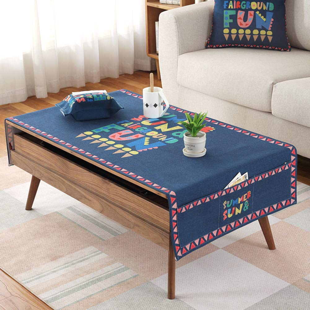 Coton Lin Nappe Table Basse Petit Salon Rectangulaire Fraiches