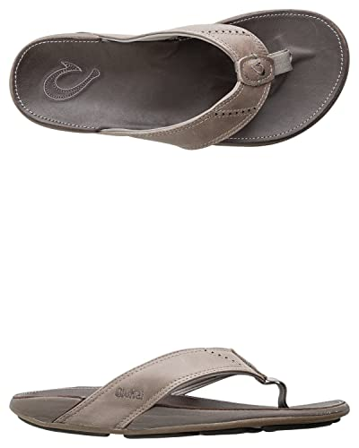 7db996a98756 Image Unavailable. Image not available for. Color  OLUKAI Men s NUI  Charcoal Dark Java Sandal ...