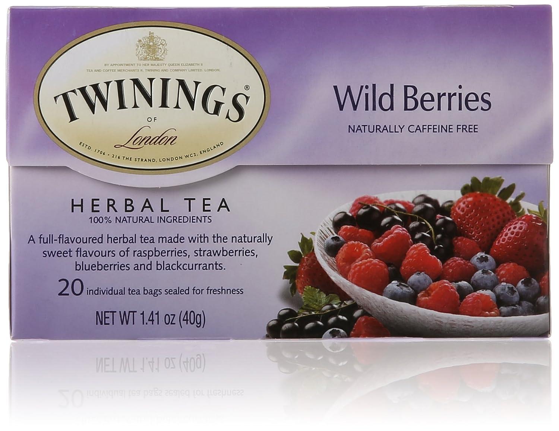 Twinings of London Wild Berries Herbal Tea Bags, 20 Count