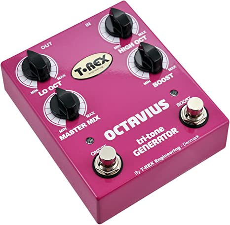 T-REX OCTAVIUS - Pedal octavador para guitarra, color rosa: Amazon ...