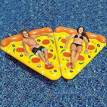Pizza inflable piscina flotador Balsa, muitobom gigante Fiesta en la piscina flotador Balsa hinchable, transparente salón/piscina tumbonas juguete con aire ...