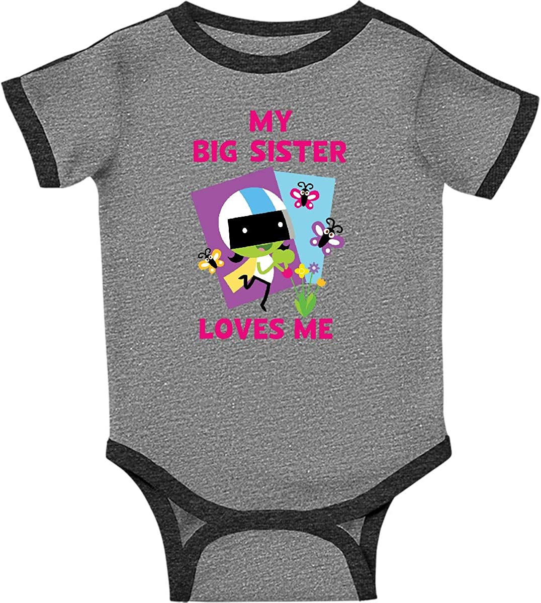 inktastic My Big Sister Loves Me with Dee Infant Creeper PBS Kids