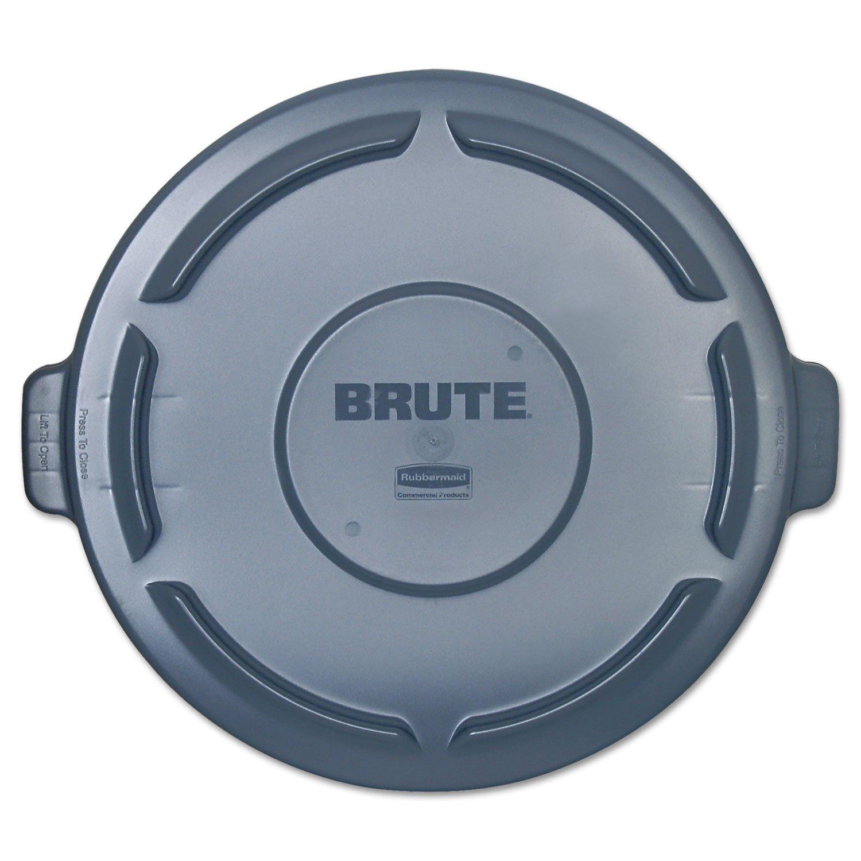 "Box King RUB123L Brute Container Flat Lid, 44 gal, 24.25"" W x 1.5"" H, Gray"