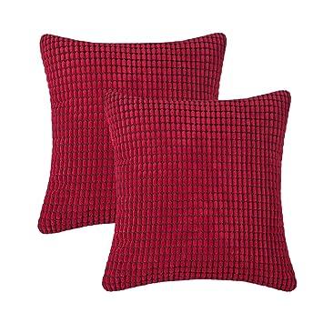 Amazon.com: CARRIE HOME - Juego de 2 fundas de almohada con ...