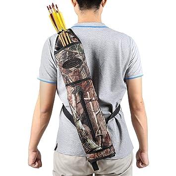 Carcaj G4Free para arquería, de lona para caza para llevar en la espalda, camuflaje: Amazon.es: Deportes y aire libre