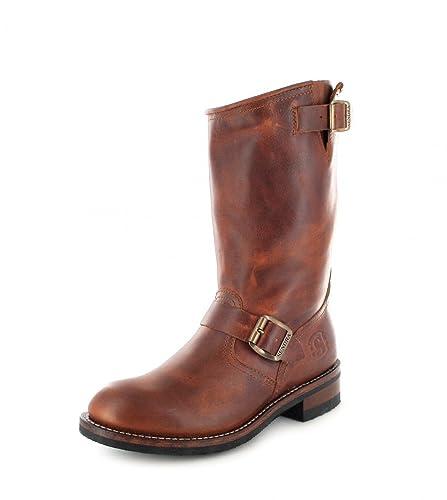 Sendra Boots 2944 Evolution Tang Lederstiefel für Damen und Herren Braun  Engineerstiefel Ohne Stahlkappe, Groesse 8c3d2aa32b