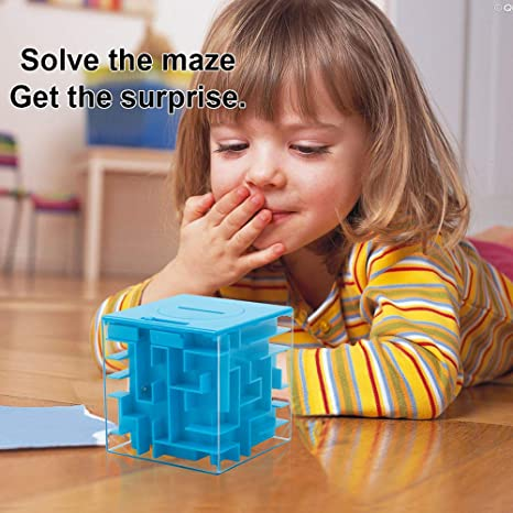 FKYTION Money Maze Puzzle Box 2 PCS Perfect Money Holder Maze Puzzle Gift Box and Brain Teasers Unique Way to Give Gifts Fun and Inexpensive Game Challenge Very Suitable for Kids and Christmas