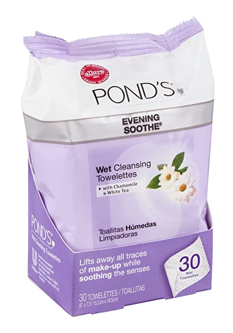 Amazon.com: Ponds Moisture Clean Towelettes, Evening Soothe - 28 ct: Beauty