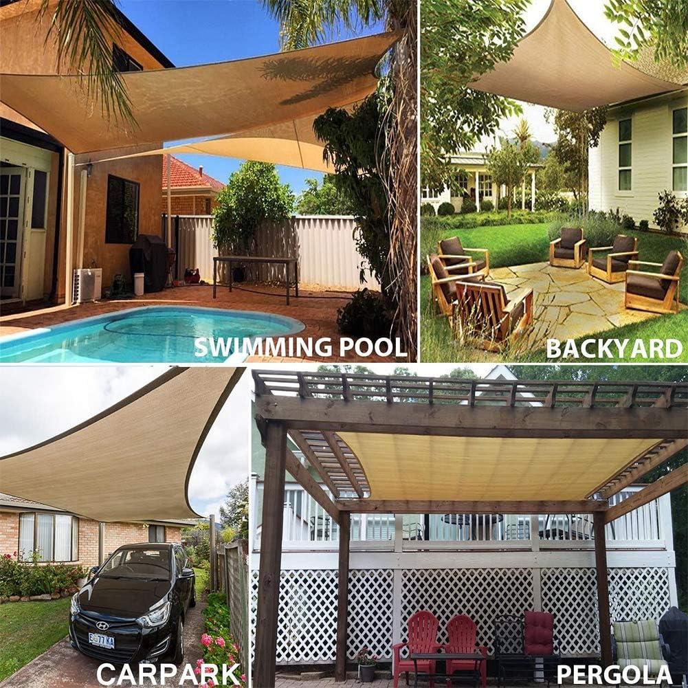 Heatile 4 x 4 m Vela de Sombra Sombra, Proteccion Solar, Toldo Resistente e Lmpermeable, para Patio, Exteriores, Jardín: Amazon.es: Deportes y aire libre