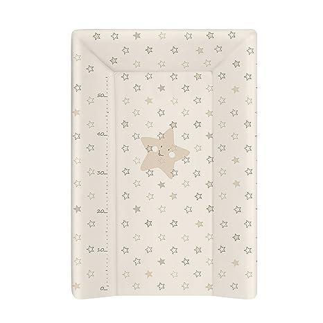 Babycalin - Colchón cambiador Luxe Etoile de color beige, 50 x 70 cm - con un metro impreso Rose Talla:50 x 70 cm: Amazon.es: Bebé
