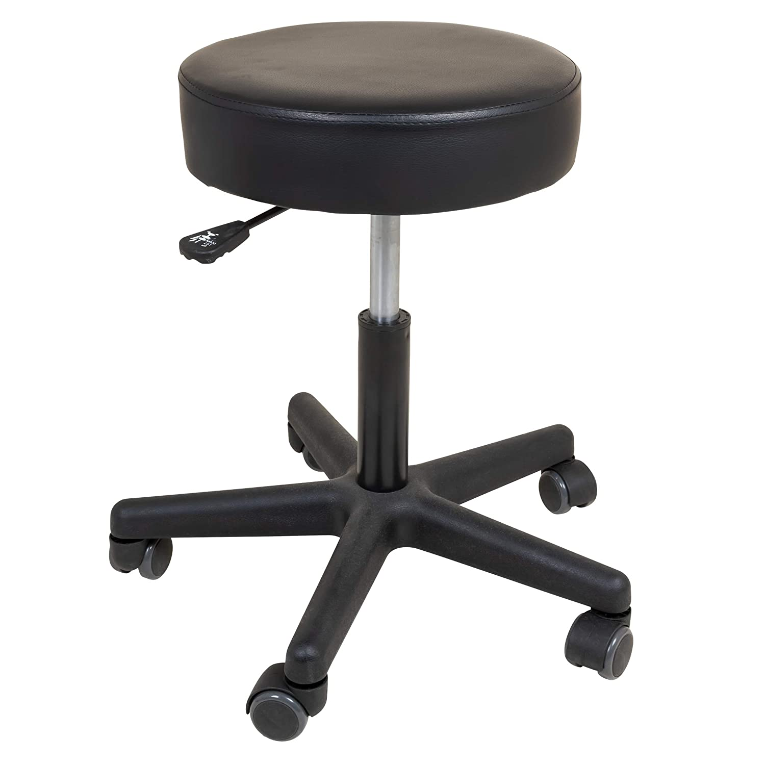 Roscoe Medical Rolling Stool - Stool With Wheels - Round Adjustable Work Stool, For Work, Office, Desk, Salon, Drafting, Spa