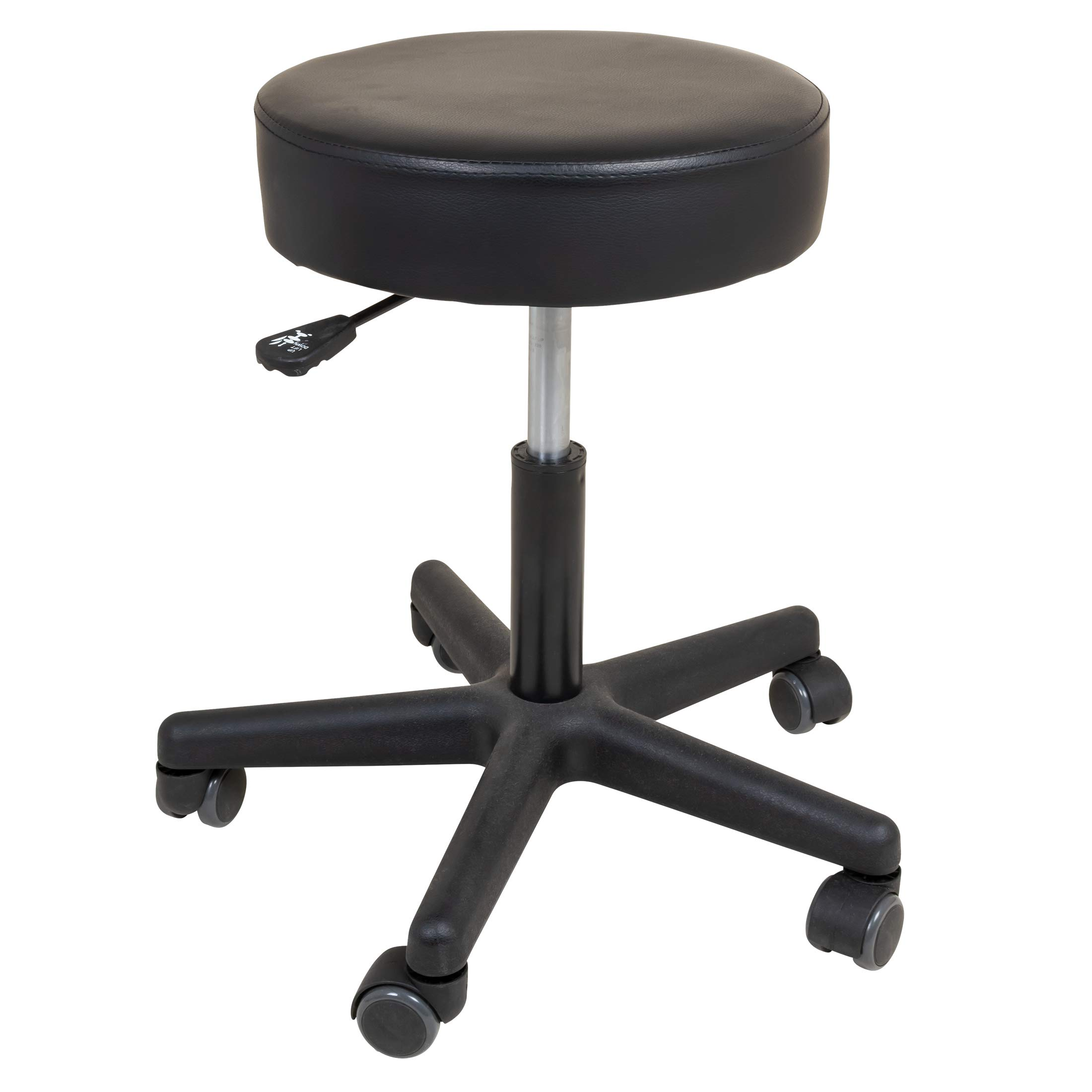 Roscoe Medical Rolling Stool - Stool With Wheels - Round Adjustable Work Stool, For Work, Office, Desk, Salon, Drafting, Spa by Roscoe Medical