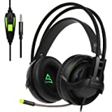 2017 SUPSOO G810 new updated Xbox One, PS4 Gaming Headset Multi-Platform Over-Ear Gaming Headset with MIC, 3.5 mm jack in-line volume control for new Xbox One / PC / Mac / PS4 / Smartphones