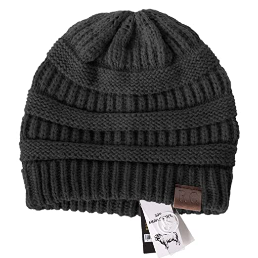 3a7735c57df Rich Cotton Knit Beanie Skully (Black) at Amazon Women s Clothing store