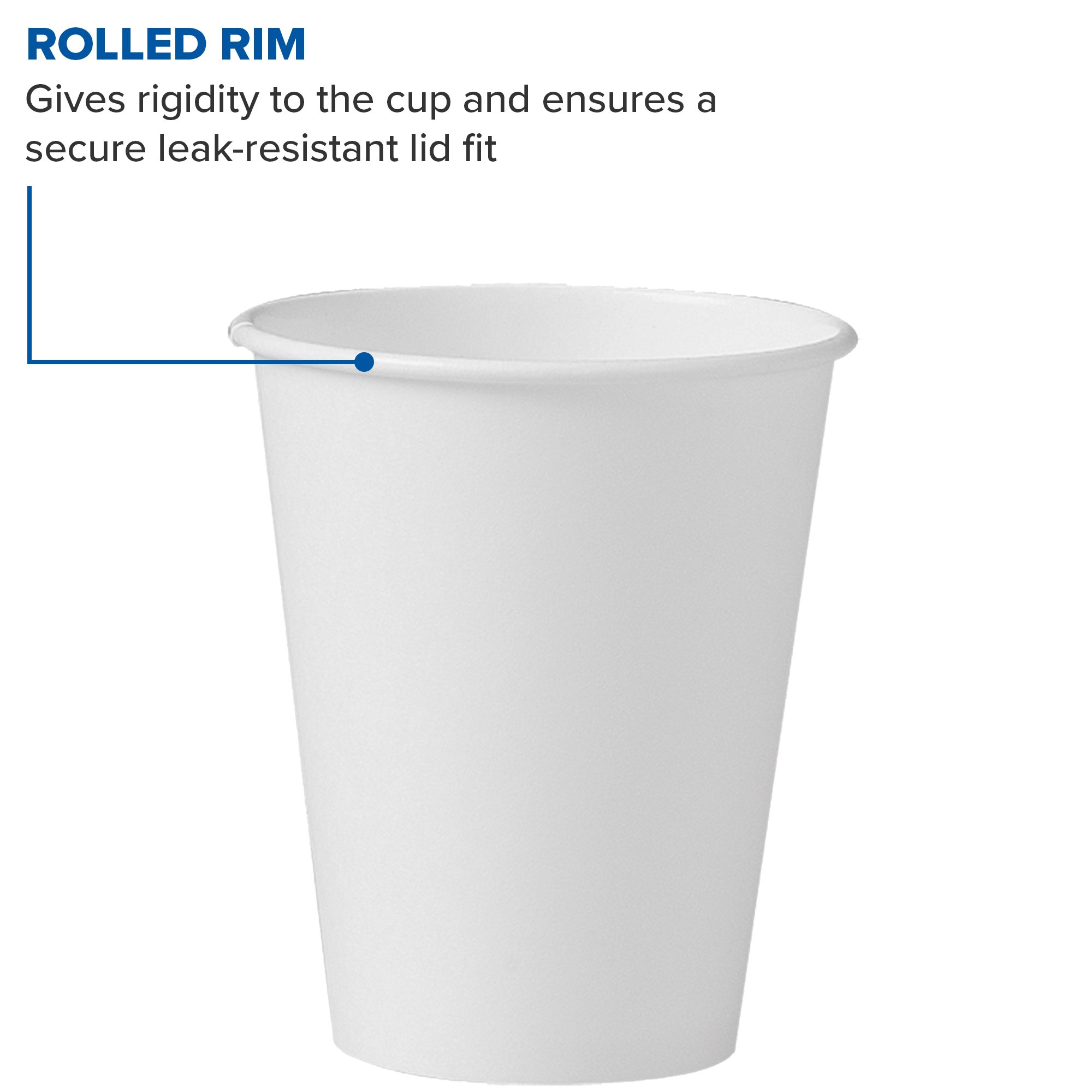 Solo 378W-2050 8 oz White SSP Paper Hot Cup (Case of 1000) by Solo Foodservice (Image #6)