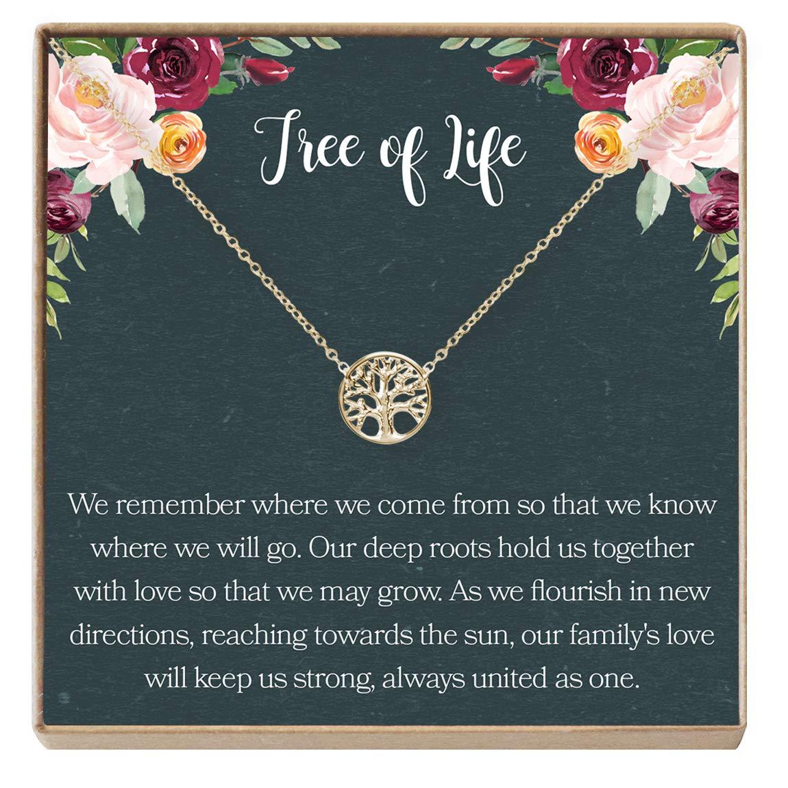 Tree Generations Dear Ava Tree of Life Necklace Gift: Family Tree Necklace Pendant Charm