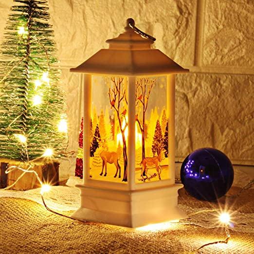Christmas SNOWMAN family LED Table Decor Lights Battery Timer LET IT SNOW 2 pc
