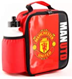 Manchester United FC Vertical Lunch Bag/Box and 600ml Bottle Set | MUFC | Man Utd