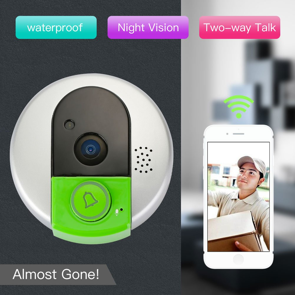 Hanbaili Smart Wireless Doorbell, H6 wireless intercom doorbell Home Shop Security Safety Button