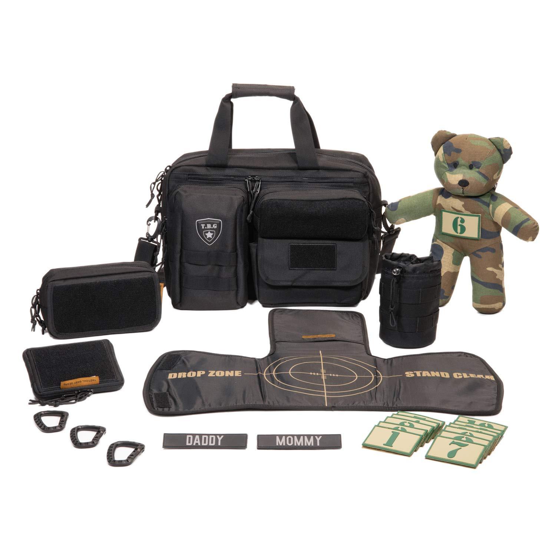 Tactical Baby Gear Full Load Out 2.0 Tactical Diaper Bag Set (Black)