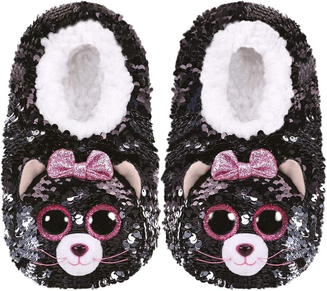 Ty Kiki - Zapatillas de Peluche con Lentejuelas: Amazon.es: Zapatos y complementos