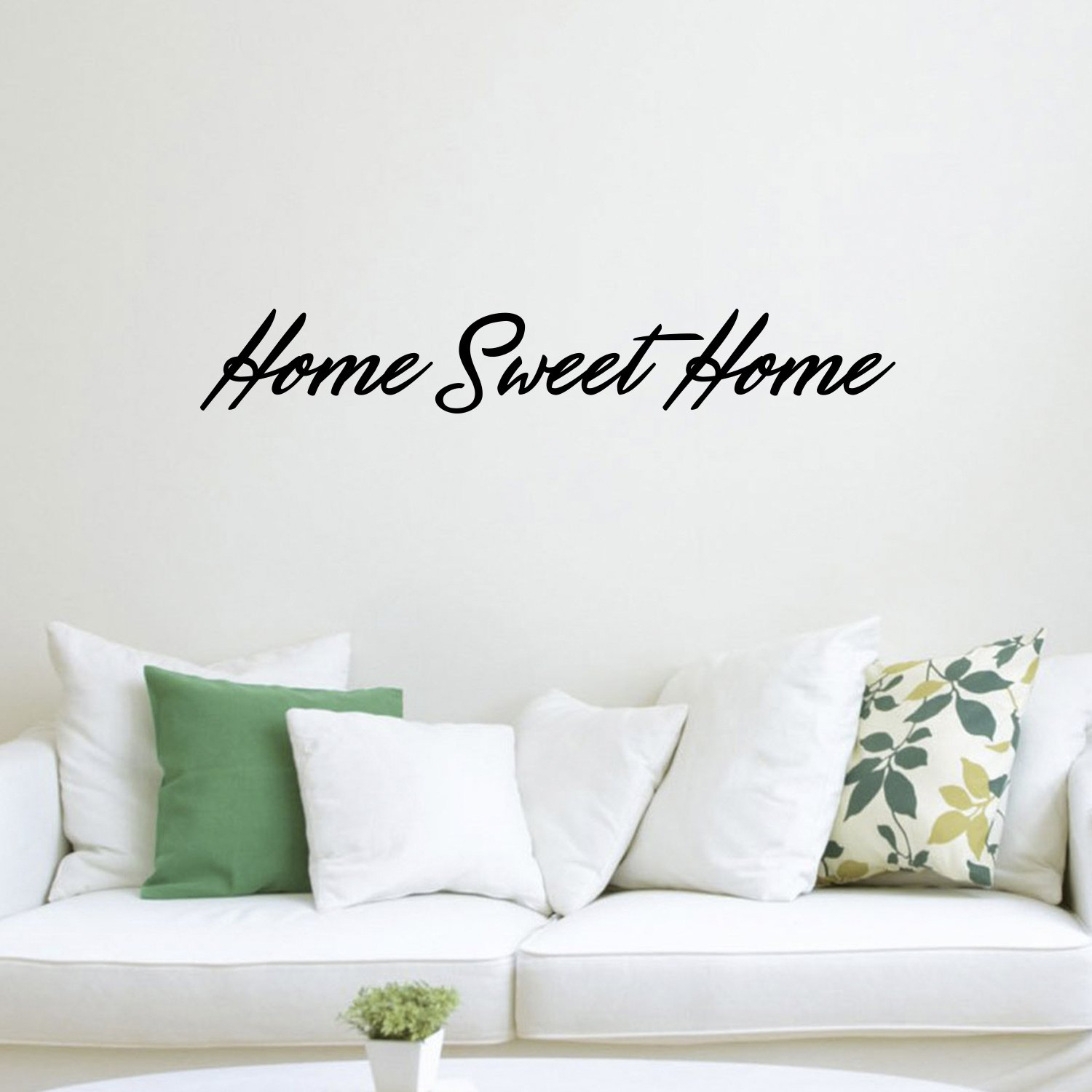 "Home Sweet Home Inspirational Quotes Lettering Decor - Vinyl Wall Art Decal 6"" x 40"" Decoration Vinyl Sticker - Living Room and Kitchen Wall Decals - Greeting Welcome Entrance"
